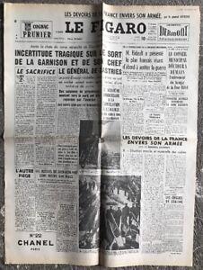 N129-La-Une-Du-Journal-Le-Figaro-10-Mai-1954