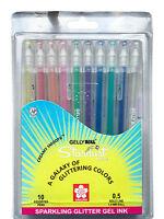10 x Sakura Gelly Roll Gel Pen Stardust Galaxy Pen ASSORTED 10 COLOUR SET
