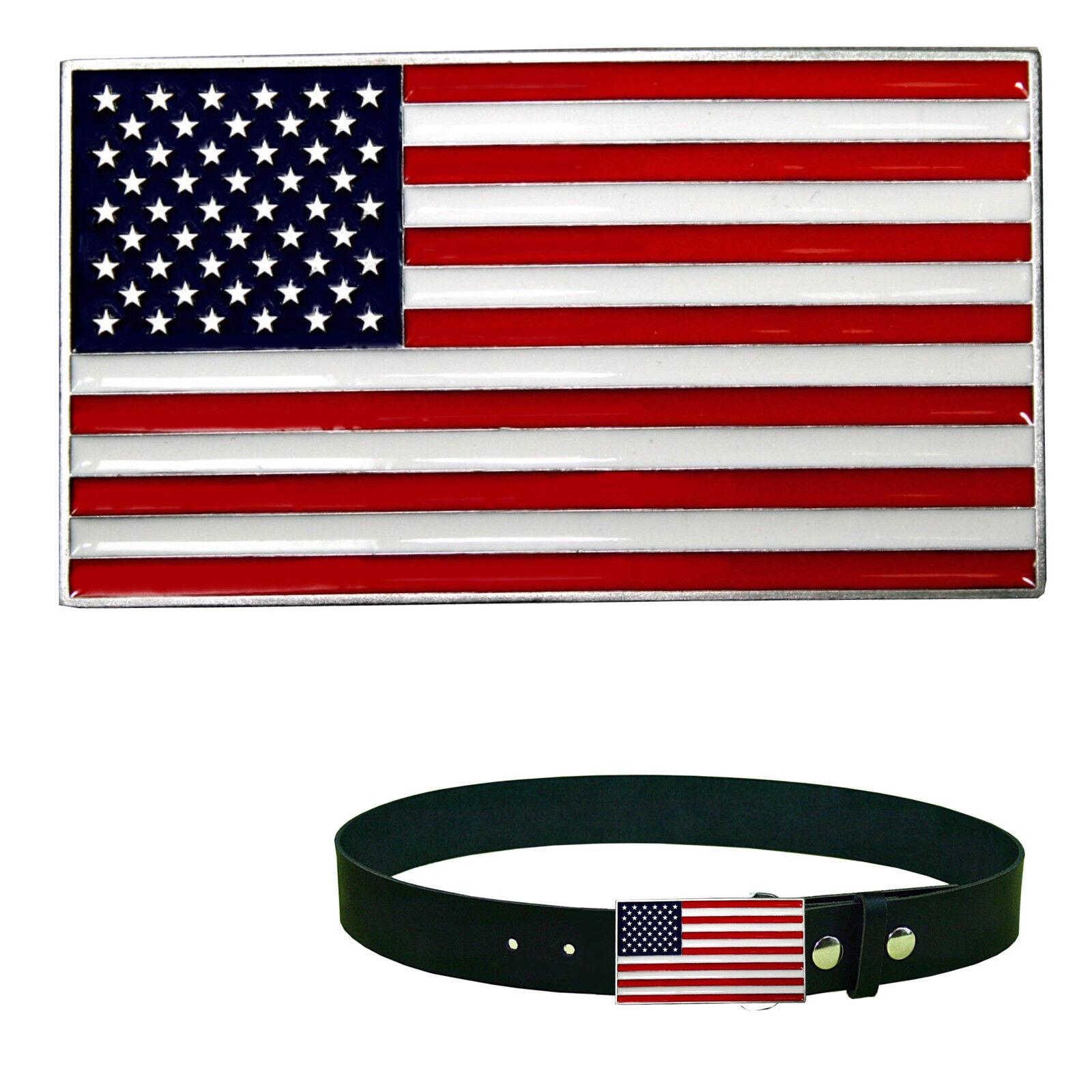 Stars & Stripes USA America Flagge Belt Buckle Banner Gürtelschnalle *173
