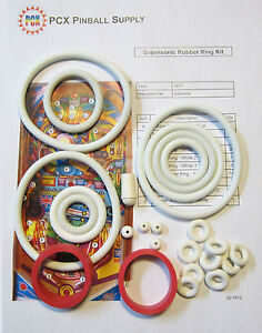 Details about 1977 Zaccaria Supersonic Pinball Machine Rubber Ring Kit