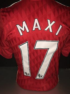 Signed Maxi Rodriguez Retro Liverpool Numbered Home Shirt