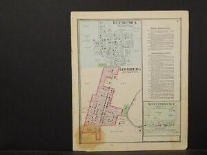 Lewisburg Ohio Map.Ohio Preble County Map 1871 Euphemia Lewisburg West Florence Y1