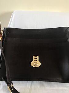 bac1283b70 Image is loading Leonhard-Heyden-Mens-leather-Briefcase-Shoulder-Messenger- Bag-