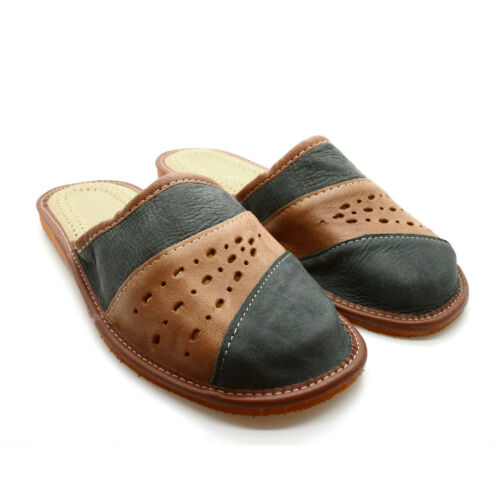 11 7 9 8 10 12 Par 100/% Genuine Leather Suede Men/'s Slippers Top Quality 6