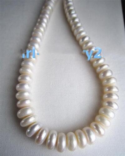 """18/"""" AAA 14-12MM SOUTH SEA NATURAL White DAROQUE PEARL NECKLACE 14K GOLD CLASP"""