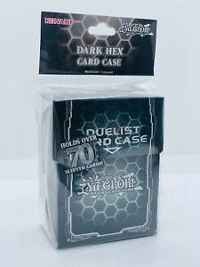 YUGIOH-Dark-Hex-Deck-Box-Card-Case-Fur-70-Karten-Schwarz-Glanzend-Neu