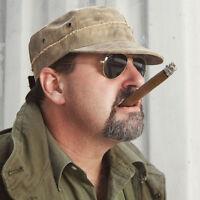 The Real Deal Cuba Libre Brazil Adjustable Canvas Tarp Cap/hat No Patches,