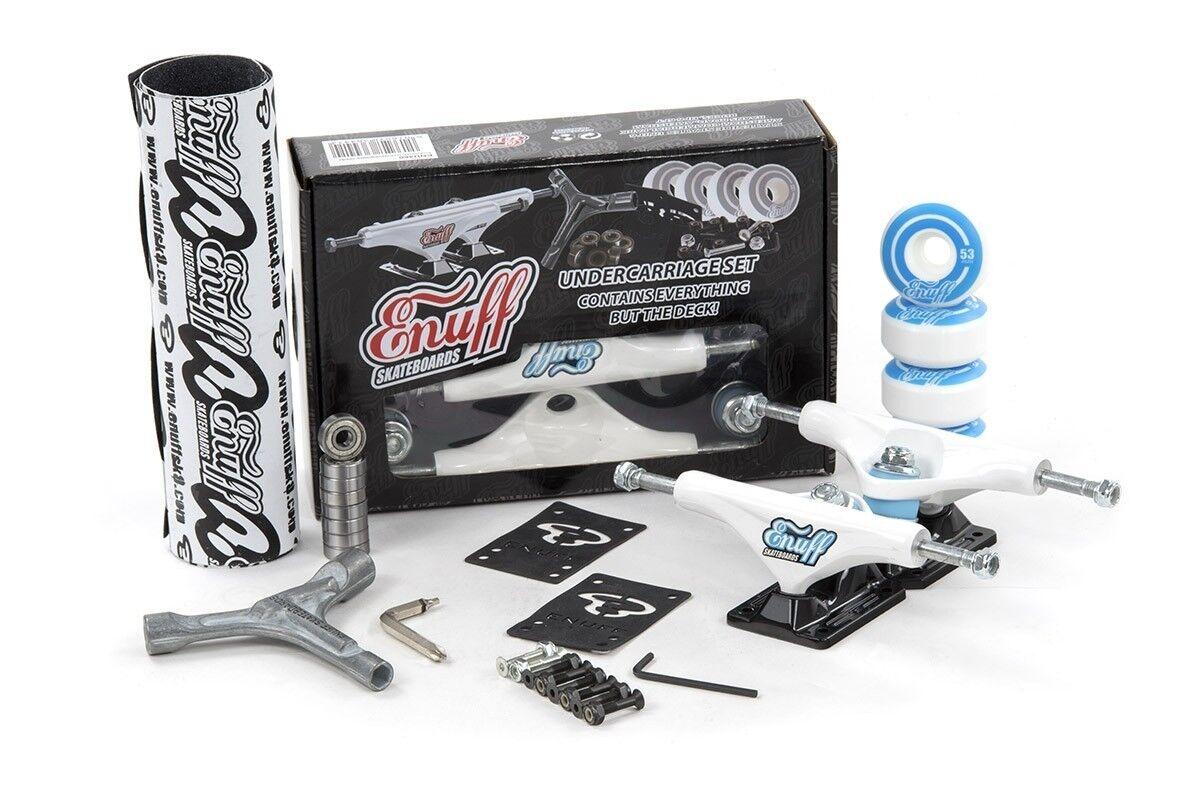 Enuff Decade pro Skateboard Lkw Set - Weiß Schwarz ( Griff  Reifen   Lager    | Charmantes Design