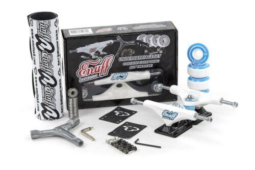 Enuff Decade Pro Skateboard Truck Kit White//Black Grip//Wheels//Bearings//Tool
