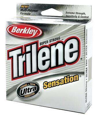 CLEAR Berkley Trilene Sensation Mono Fishing Line 330yds 8 LB monofilament