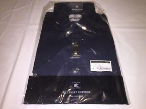 New Mens B&c Smart Shirt K15. Navy 16.5 short Sleeve