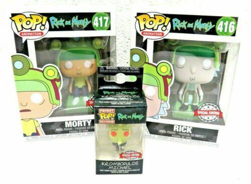 2 X Funko Pop Vinyl Figure Rick and Morty-édition spéciale Free porte-clés