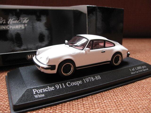 1 43 Minichamps Porsche 911 Coupé (1978-88) Diecast par Mini Voiture Ventilateur spécial