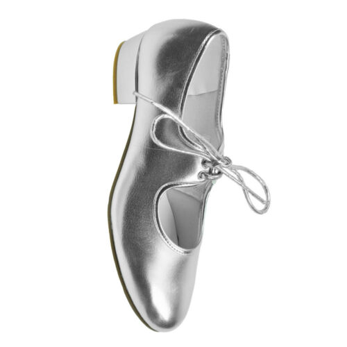 Starlite Silver PU Tap Shoes - Low Heel