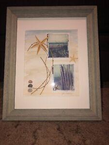 Jane Wolfgang Signed Art Polaroid Transfer Real Starfish Ocean