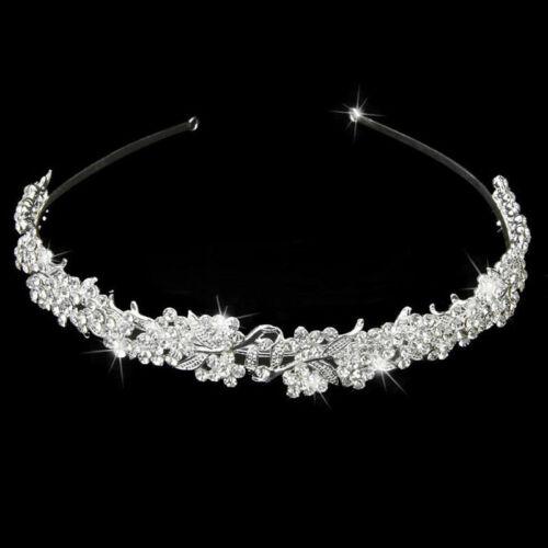 Wedding Crystal Flower Headband Hairband Bride Bridesmaid Prom Tiara Brida E8D1