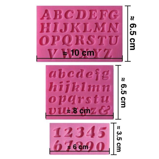 Stampo Silicone 3D Alfabeto Numeri Per Pasta Da Zucchero, Torta Design