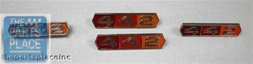 Trunk 442 Emblem Kit Quarter 1966 Oldsmobile Cutlass Grille