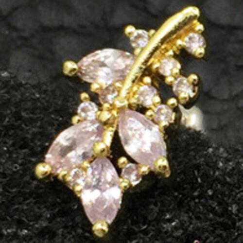 CZ Crown Cartilage Stud Simple Tragus Earring Conch Flat Back Dainty Piercing