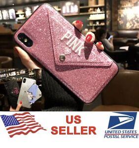 Details about PINK Victoria Secret Case for iPhone 6 6S 7/8 6/7/8 Plus X XR XS MAX Card Pocket
