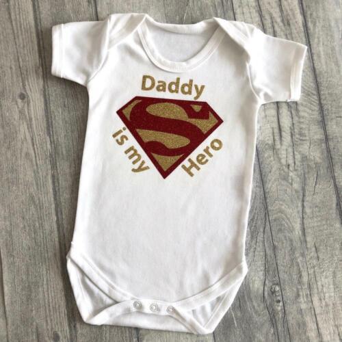 manga corta superman papá es mi héroe MARVEL Regalo Papá Héroe Superman Mameluco