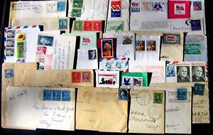 Stati-Uniti-U-S-A-Postal-History-Lotto-da-60-buste-del-settore