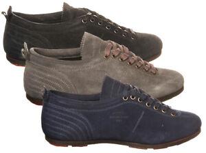 Sneakers-Pantofola-D-039-Oro-Superstar-low-uomo-in-pelle-Punta-tonda-camoscio-SL18U