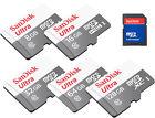 SANDISK ULTRA* 48MBs CLASS10 micro SD SDHC SDXC 128GB 64GB 32GB 16GB 8GB LOT US*