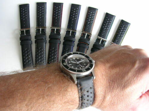 19mm GT Racing Rally Silicon perforated Sport watchband strap IW SUISSE 18 20 22