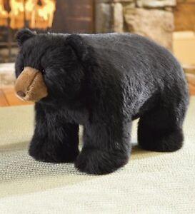 Black Bear Footstool Plush Foot Stool Ottoman Stuffed Animal Toy