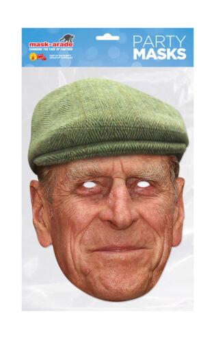 Prince Philip Duke Edinburgh Face Party Mask Card Fancy Dress Royal Family A4