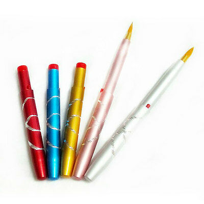 Portable Metal Cosmetic Make up Retractable Lip Brush Pencil Liner Tool