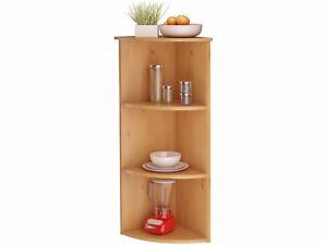 eckregal standregal regal k chenregal k che badregal landhaus kiefer holz wei ebay. Black Bedroom Furniture Sets. Home Design Ideas
