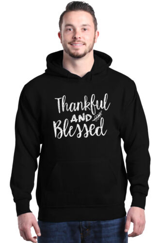 Thankful and Blessed Hoodies Sayings Thanksgiving Fall Family Sweatshirts