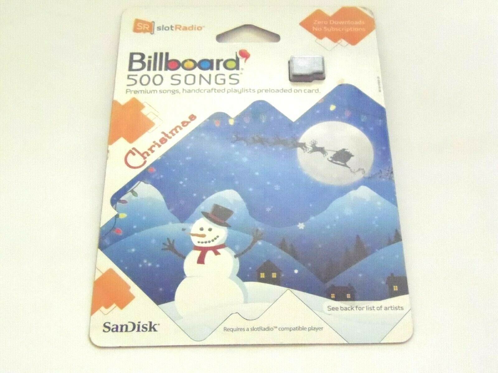 Sandisk SlotRadio/Slot Radio Billboard 1,000 Songs Card New/Sealed