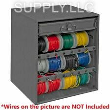 Wire Spool Rack Amp Parts Cabinet Welded Cold Rolled Steel Work Shop Garage Truck
