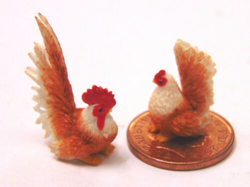 1:12 Scale Hand Made Chicken /& Rooster tumdee Dolls House Miniature Garden Farm T3