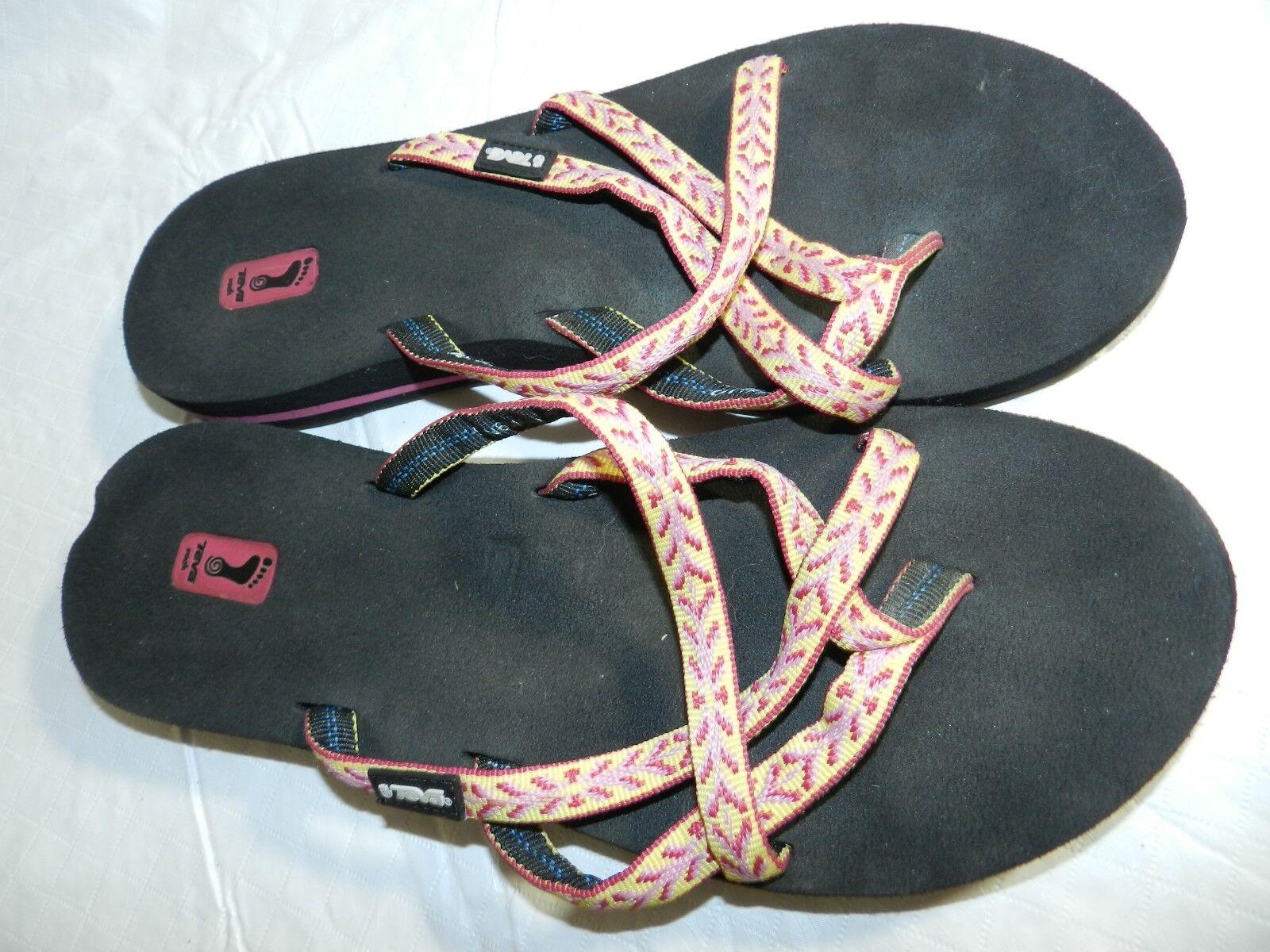 WOMENS flip flops = = TEVA = SIZE 10 = = ss26 0017ee