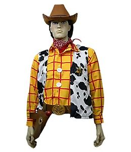 S M 11 Pc Adult Toy Story Woody Cowboy Costume Shirt Vest Buckle