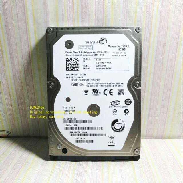 "Seagate 80GB  7200RPM  Momentus  7200.3 Internal 2.5"" (ST980411ASG) Notebook HDD"