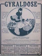 PUBLICITÉ 1916 GYRALDOSE L'ANTISEPTIQUE FANDORINE ARRÊTE LES HÉMORRAGIES