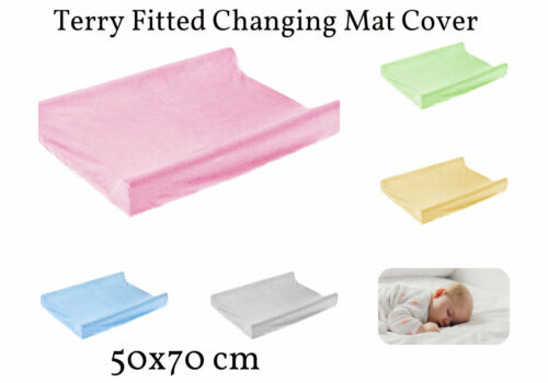 NEW Terry Fitted Changing Mat Cover Nursery Room 70x50cm  Baby Infant Case Sheet