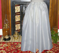 Ladies plain satin petticoat Victorian / Edwardian costume fancy dress