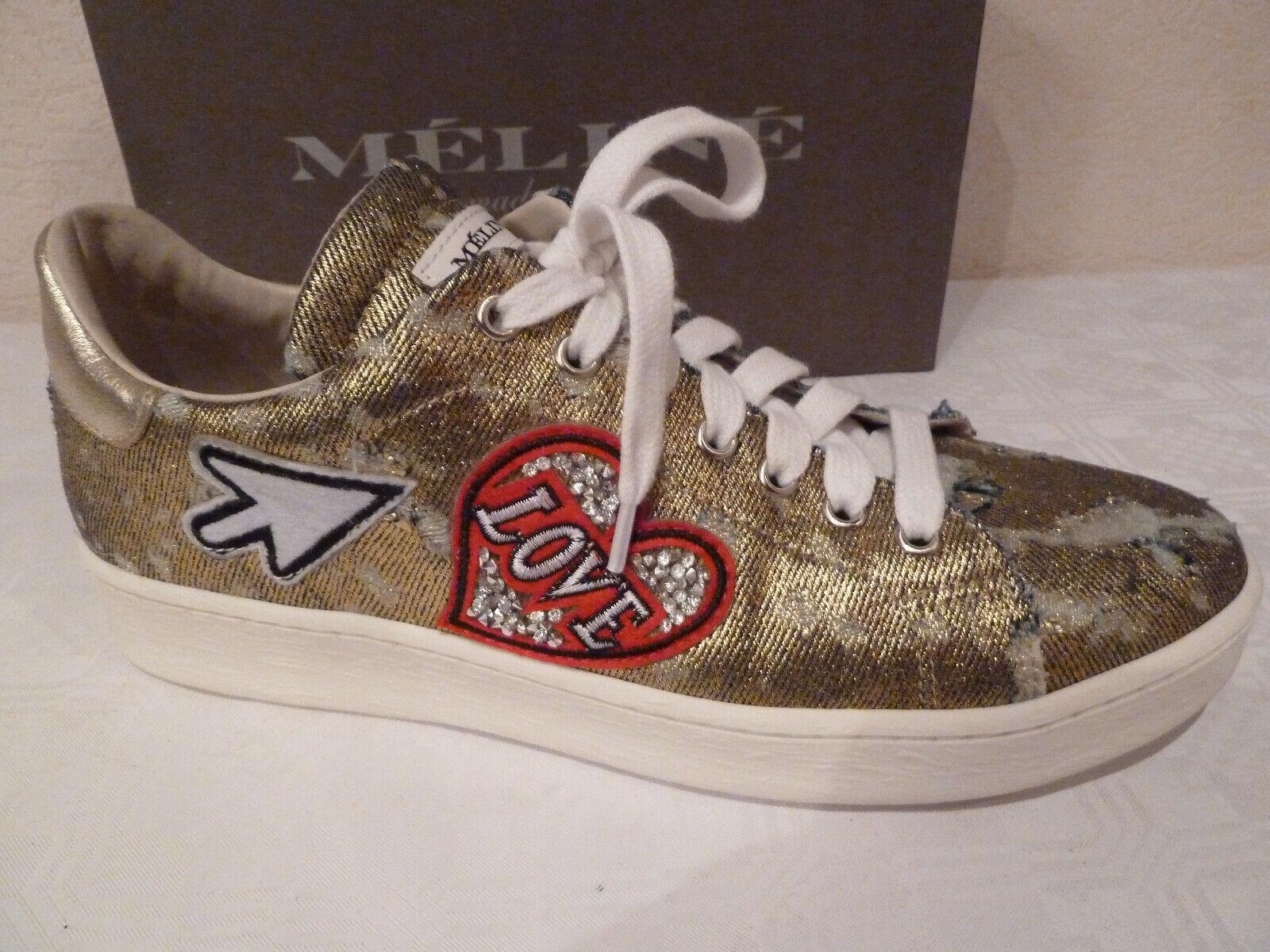 Fetzige Broken Gold Meline Schuhe,Turnschuhe Gold.Gr.7   41, Sohle ca 27 cm lang