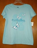 Blue Grandmothers Are Special T-shirt With Butterflies Short Sleeves Edit Medium