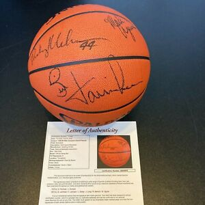 1988-89 Detroit Pistons NBA Champions Team Signed Game Basketball With JSA COA