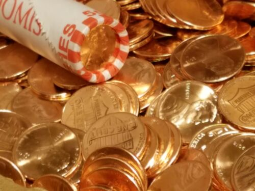 2018 D UNC Lincoln Cents Penny Each Roll Has 5 Random Pennies $5 10 Rolls