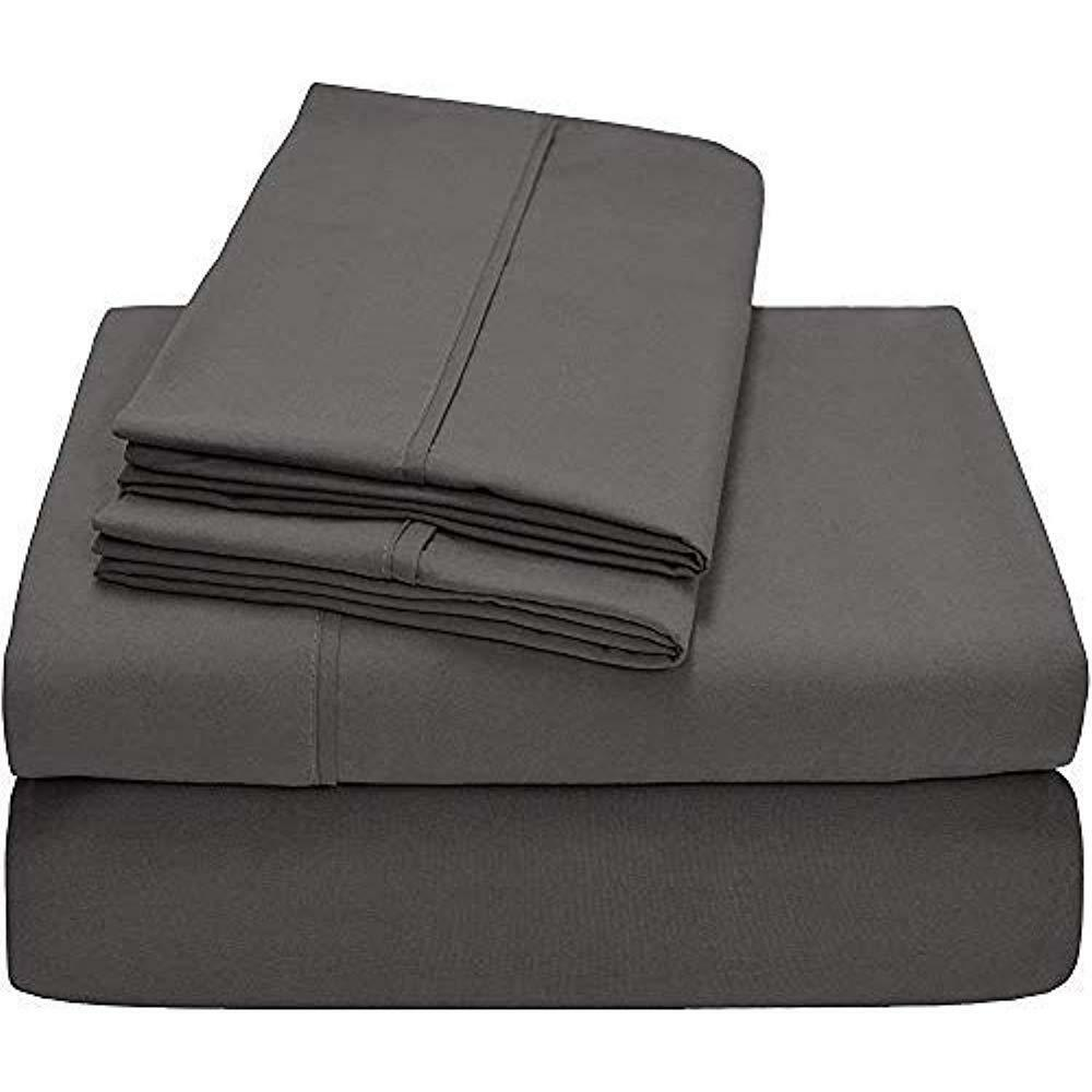 100% Long Staple Combed Cotton Bed Sheet Set - 300 Thread Count Sateen Weave, 4