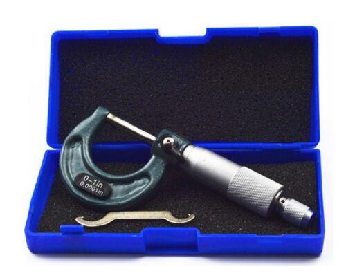 "Outside Virnier Micrometer 0-1/""//0.0001/"" Premium Precision Carbide Tips W//CASE"