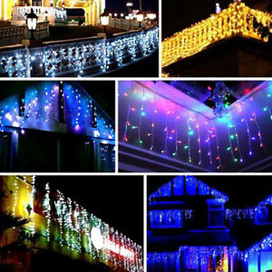 96-960-LED-Fairy-String-Hanging-Icicle-Snowing-Curtain-Light-Outdoor-Christmas
